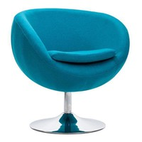 Lund Arm Chair Island Blue Chromed Steel