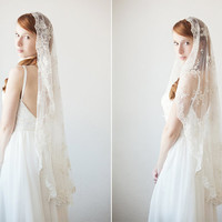 Timeless Romance - Small Mantilla Veil - Made to Order