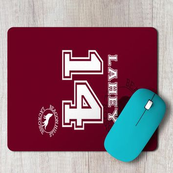 Rectangle Mouse Pad Teen Wolf Lahey Lacrosse Jersey