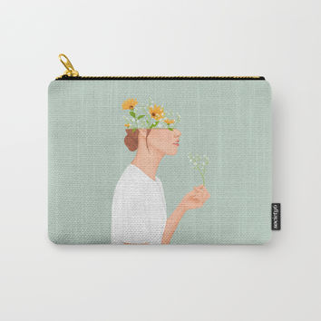 Flower Head Carry-All Pouch by marylobs