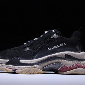 2017 PARIS Balenciaga Retro BL Triple S Sneakers for men women Kanye West Old Grandpa