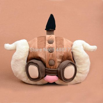 Game LOL Corki Plush Hat lol High quality Caps 1:1 Cosplay for Gamer