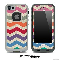 Large Colorful Abstract Chevron Pattern Skin for the iPhone 5 or 4/4s LifeProof Case