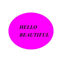 Instant Printable HELLO BEAUTIFUL in a Pink Circle,  Instant Download, Wall Art, Typography, Word Art, Wall Decor
