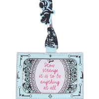 Disney Alice In Wonderland Damask Lanyard