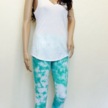 Yoga Pants Tie-Dye Capri Leggings