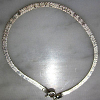925 sterling silver Italian bracelet/stamped I Love You with hearts imprinted on the silver links sterling bracelets