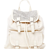 Canvas Embellished Backpack