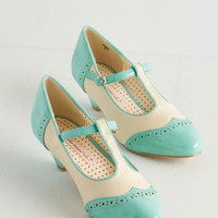Bait Footwear Vintage Inspired Care to Dance? Heel in Turquoise
