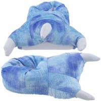 Wishpets Medium Blue Dinosaur Claw Slippers