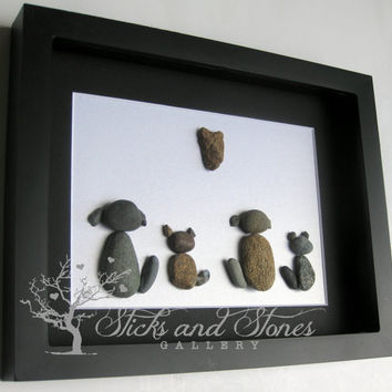 Veterinarian Gift- Vet Thanks Gift- Animal Lover Gifts - Animal Themed Stone Art -Pebble Art - Unique Animal Lover Gifts -Animal Lover Gift