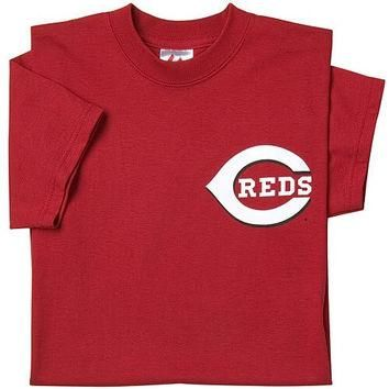 Cincinnati Reds (YOUTH MEDIUM) 100% Cotton Crewneck MLB Officially Licensed Majestic M