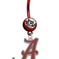 Alabama Crimson Tide PREMIUM Red Titanium Anodized Sexy Belly Navel Ring