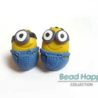 minion stud earrings