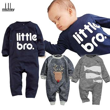 MICHLEY Infant Baby Romper Cartoon Long Sleeve Cute Spring Rompers Animal Print Coverall Jumpsuit Unisex Baby Clothes JY0328