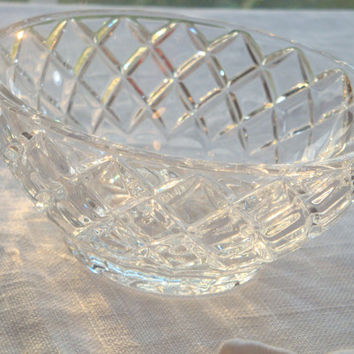 Crystal / Glass Candy Dish / Jewelry Holder / Catch-All