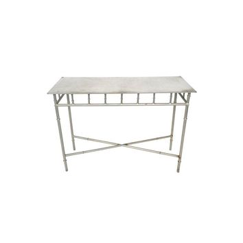 Pre-owned Aluminum Faux Bamboo Console Table