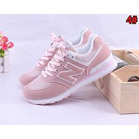 New Balance Retro Popular Women Leisure Breathable Sport Sneakers Shoes 4#