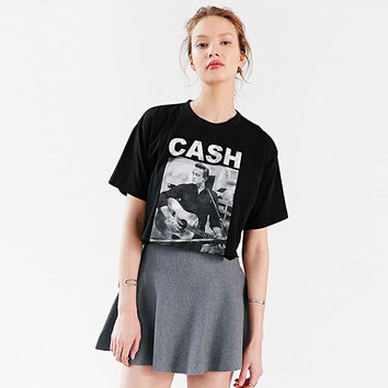 Black Johnny Cash Graphic Tee