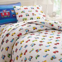 Olive Kids Trains, Planes, Trucks Twin Duvet Cover - 76410