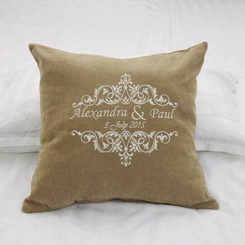 Personalized Pillow Covers Established Custom Pillowcase Monogram Family Name Pillow Cover Decor Monogrammed Throw Pillows Wedding Gift V31