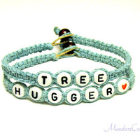 Light Blue Bracelet Set, Tree Hugger Hemp Jewelry