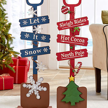Harvest Rake or Holiday Shovel Decor