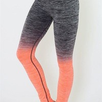 Get Your Zen on Ombre Neon Coral Leggings