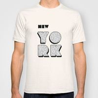 New York in writing T-shirt by Shu   Formanuova