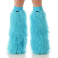 Turquoise Fluffies : Solid Color Fluffy Legwarmers from Indyglo