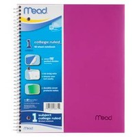 "Mead Notebook, College Ruled, 5 Subject, 180pgs, 8.5"" x 11"" : Target"