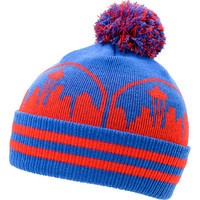 Casual Industrees Seattle Skyline Blue & Red Pom Fold Beanie at Zumiez : PDP