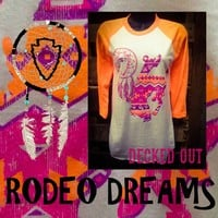 Rodeo Dreams- neon orange baseball