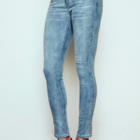 VIENNA HIGH RISE ACID WASH SKINNY JEAN