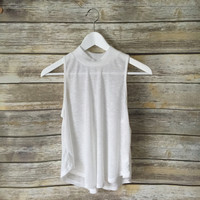 Jenn Ribbed Mock Neck Tank