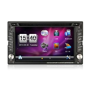 Bosion hot selling product 6.2-inch Double DIN Car Gps Navigation in Dash Car Dvd Player Car Stereo Touch Screen with Bluetooth USB Sd Mp3 Radio for Universal Car Free Backup Camera and map card