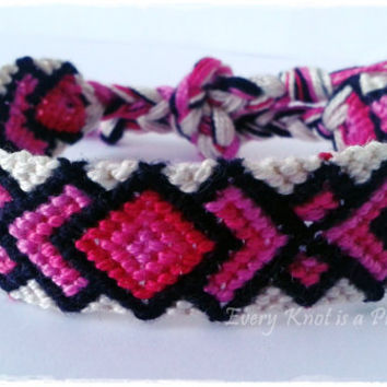 Knots for a Cause - Wide Macrame Knotted Friendship Bracelet - Ready To Ship