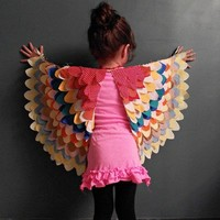 handmade charlotte :: DIY Bird Wings for Children  :: vintage + modern design for kids and the home