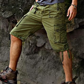 Casual Loose Cotton Bermuda Cargo Excellent Stylish Cargo Shorts Men
