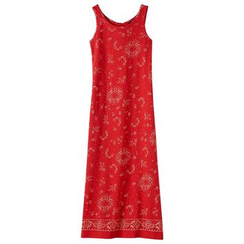 Chaps Knot Back Sleeveless Maxi Dress - Girls 7-16, Size: