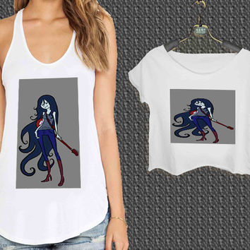 Adventure time Marceline Guitar For Woman Tank Top , Man Tank Top / Crop Shirt, Sexy Shirt,Cropped Shirt,Crop Tshirt Women,Crop Shirt Women S, M, L, XL, 2XL*NP*