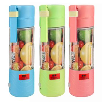 Fashion and Portable Juicer Cup Rechargeable Battery Juice Blender 380ml USB Juicer