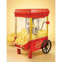 Nostalgic Retro Vintage Old Fashion Table Top Popcorn Maker Machine