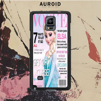 Vogue Elsa Frozen Samsung Galaxy Note 4 Case Auroid