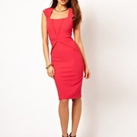 Vesper Jersey Dress with Square Neck at asos.com
