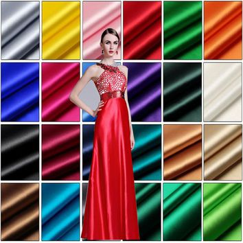110cm Wide 1meter Good Pure Silk Fabric Real 100% Silk Fabric 20 Colours Brocade Silk Fabric For Dress DIY Wedding Clothing