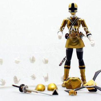 LOOSE Yellow from S.H. Figuarts Power Rangers Super Samurai Metallic Coating Set