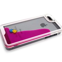 Nine States 3D Fantastic Plastic Fish Couple Swimming Hard Case for Apple iPhone 5 5s Color Varies (Blue)
