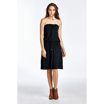 aa003d4cb9 Women s Smock Strapless Dress with Elastic Waistband