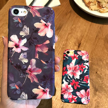 Handmade Painting Floral iPhone 7 7Plus & iPhone 6 6 Plus Best Protection Case Cover -0321